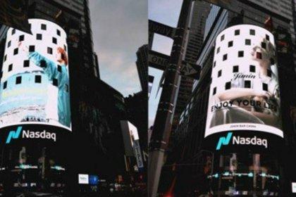 แฟนๆ มอบโฆษณาบนบิลบอร์ดจอยักษ์ใน ไทม์สแควร์ เมืองนิวยอร์ก ให้ จีมิน BTS