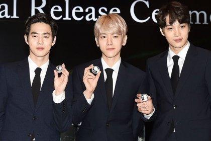 ซูโฮ แบคฮยอน และ ไค EXO ได้ร่วมฉลองในงานเปิดตัวเหรียญที่ระลึก EXO อย่างเป็นทางการ