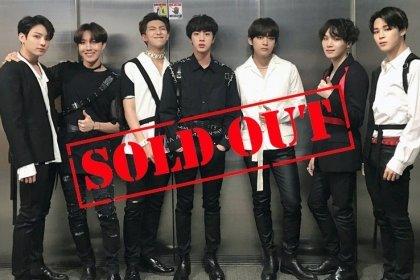 Big Hit Ent. ได้ออกมาคอนเฟิร์ม BTS World Tour ทั้ง 21 คอนเสิร์ต ขายบัตรหมดแล้ว!