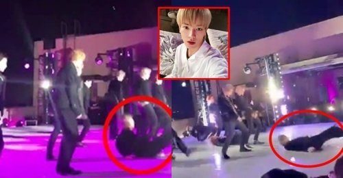 แทยง NCT 127 ลื่น และล้ม ในขณะที่กำลังทำการแสดงบนสเตจ Apple Music ที่ LA หลายครั้ง