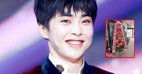 ซิ่วหมิน EXO ส่งพวงหรีดดอกไม้ กับข้อความสุขฮา ไปให้เพื่อนที่เปิดธุรกิจติวเตอร์!