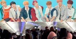 มีการคาดว่า ทีมงาน Big Hit Ent. โพสต์คลิป ให้เห็นจำนวน ซาแซงแฟน ที่บินรอบเดียวกับ BTS