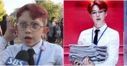 เบบี้แฟนของ BTS แต่งชุดคอสเพลย์เป็น 'จีมิน' เข้าร่วมคอนเสิร์ต BTS