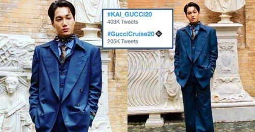 #KAI_GUCCI20 ติดเทรนด์ทวิตเตอร์ #1 หลัง ไค EXO ได้ปรากฏตัวในงาน Gucci