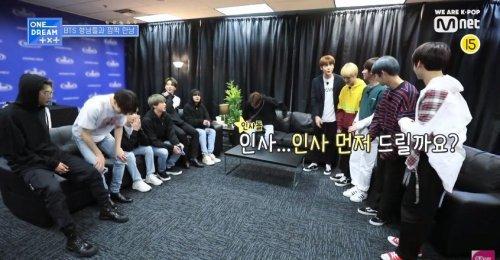 TXT ได้พบกับพี่ ๆ BTS ในรายการ ONE DREAM.TXT ของ Mnet!