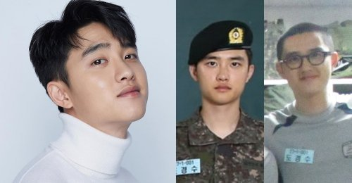 D.O. EXO โดดเด่นอย่างมาก ในภาพใหม่ ที่ส่งตรงมาจากใน กรมทหาร!