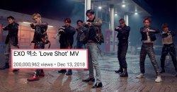เพลง Love Shot กลายเป็นเพลงที่ทะลุยอด 200 ล้านวิว ไวที่สุดของ EXO!