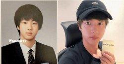 ชาวเน็ตคิดว่า 'จิน BTS' ยังดูเหมือนอยู่มัธยมหลังเปรียบเทียบภาพถ่ายในอดีตของเขา!