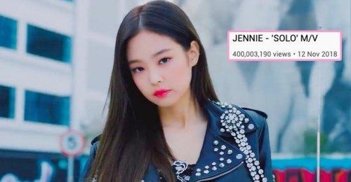 400 ล้านแตกจ้า!! เจนนี่ BLACKPINK เป็นศิลปินหญิงเดี่ยว ที่มี MV ทะลุ 400 ล้านคนแรก!