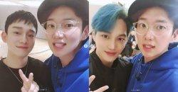 จางซองคยู ถ่ายภาพกับหนุ่ม ๆ วง EXO ในฐานะผู้จัดการพาร์ทไทม์!