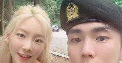 แทยอน Girls' Generation ไปเยี่ยมคีย์ SHINee ในกองทัพ