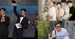 วี BTS และแก๊งเพื่อน ร่วมแสดงความยินดีกับ ชเวอูชิก ที่ชนะรางวัลงาน SAG Awards