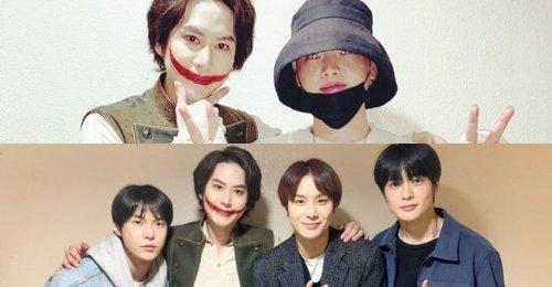 อันแจฮยอน และ โดยอง, จองอู แจฮยอน NCT ให้กำลังใจ คยูฮยอน SJ ที่สเตจละครเวที