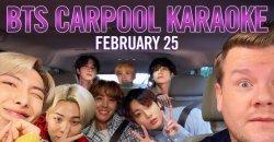 The Late Late Show ประกาศวันที่ที่ BTS จะปรากฏตัวใน Carpool Karaoke