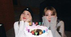 สมาชิก 2ne1 ส่งคำอวยพรถึง CL + ซานดาราเอาเค้กไปให้ CL ด้วย