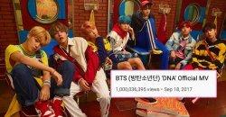1,000 ล้านแตกจ้า! เพลง DNA กลายเป็นเพลงแรกของ บอยกรุ๊ป K-POP ที่มียอดวิวทะลุ 1,000 ล้าน!