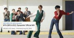 เพลง Dynamite ของ BTS ทำลายสถิติกับยอดวิว 350 ล้านวิว!