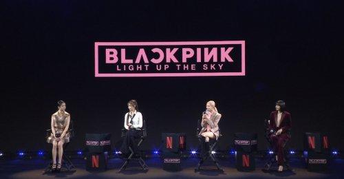 จีซู เจนนี่ โรเซ่ ลิซ่า แถลงข่าวเปิดตัว BLACKPINK: Light Up the Sky