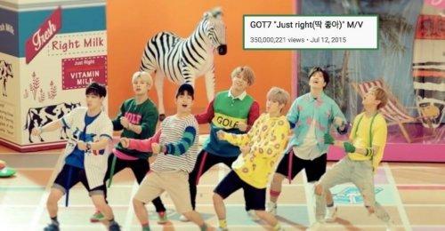 Just Right กลายเป็นเพลงแรกของ GOT7 ที่มียอดวิวทะลุ 350 ล้านวิว!