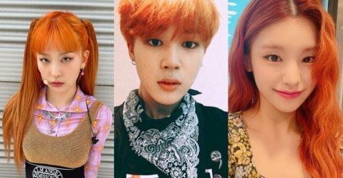 6 ไอดอล K-pop สุดปัง กับ ผมสีส้ม