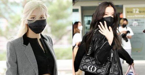 Jisoo และ Rosé BLACKPINK ปรากฏตัวที่สนามบิน ไปปารีสแฟชั่นวีค ด้วยชุดราคาแพง